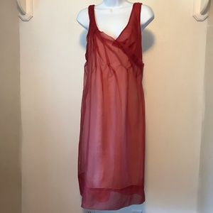 BCBG Maxazria 100% Silk Runway Dress Size 10